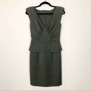 ABS Allen Schwartz Olive Green Dress